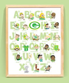 Well not the Green Bay one lol! Green Bay Football Alphabet W x H) Unframed Baby Girl Names Uncommon, Football Nursery, Packers Baby, Greenbay Packers, Green Bay Football, Baby Room Colors, Yellow Nursery, Heart For Kids, Baby Boy Nurseries