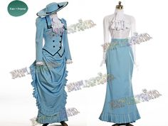 Black Butler Kuroshitsuji Cosplay Angelina Durless (Madam Red) Costume Victorian Tour Outfit