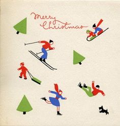 Tattered and Lost EPHEMERA: CHRISTMAS CARDS from the late 1940s