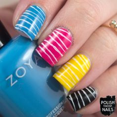 Graphic Design // Polish Those Nails // The Digit-al Dozen - Get To Know Me // Inspired by Jason Messinger // nail art - cmyk - zoya - milani - luxe lacquers (press sample)