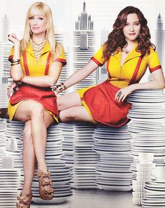 Kat Dennings& Beth Behrs - 2 Broke Girls