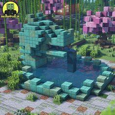 Minecraft Building Guide, Minecraft Bridges, Minecraft City, Minecraft Plans, Minecraft Construction, Amazing Minecraft, Minecraft Blueprints, Minecraft Creations, Minecraft Buildings