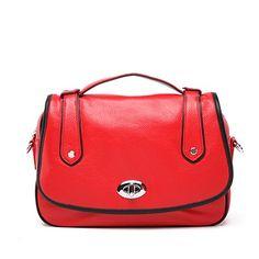 Cara Premium Leather SatchelFree Shipping at VANCL