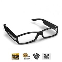 Caméra cachée couleur avec DVR dans une lunette - HD 1080P - 5 mégapixels - Angle de vue 63° - Jusqu'à 32 Go