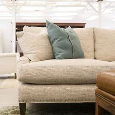 Add a splash of color to your neutrals! #LibecoHome   #Decor   #Pillow