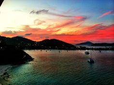 St thomas shoreline sunset