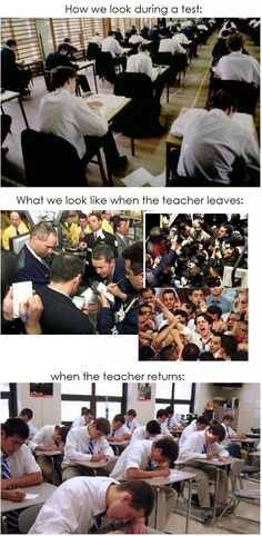 What We Look Like When The Teacher Leaves! - Posted in Funny, Troll comics and LOL Images - LOL Heaven