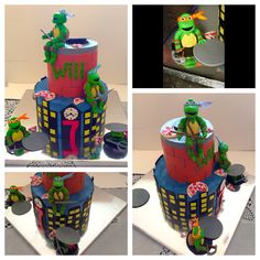 Ninja turtle cake I made for my great nephew!