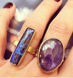 Two true beauties in opal and tanzanite a rings by Annette Ferdinandsen- available at Quadrum- photo credits: www.instagram.com/jewelry_maven