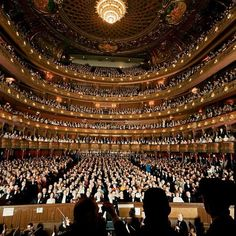 Photo by life: Audience at gala on the last night in the old Metropolitan Opera House before the company moved to new home at Lincoln Center. (Henry Groskinsky—Time & Life Pictures/Getty Images)