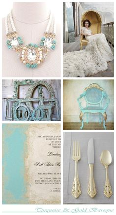 Baroque turquoise and gold ~ wedding inspiration to suit Saddlers' Hall