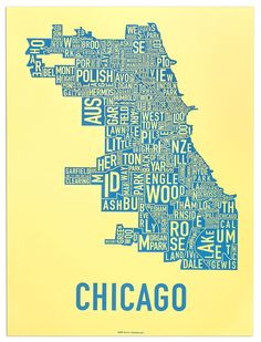 This Would Be Such A Cool Thing To Hang In The Living Room Chicago - Cool map posters