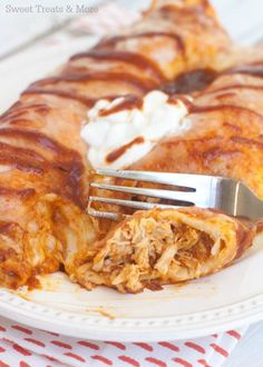 BBQ Chicken Enchiladas | Sweet Treats and More