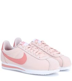 Nike Classic Cortez Nylon Sneakers In Silred Pink Sneakers, Retro Sneakers, Suede Sneakers, Sneakers Fashion, Fashion Shoes, Sneakers Nike, Sneakers Women, Sock Shoes, Cute Shoes
