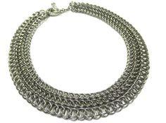 Steel Chain Mail Collar, chain mail jewelry