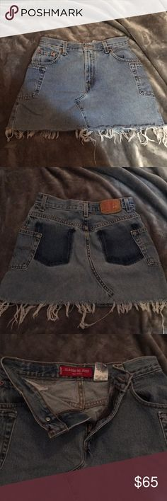 Levi's classic relaxed denim skirt Great condition. Never worn. Size 6 mis S. Levi's Skirts Mini