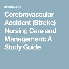 cerebrovascular accident essay This essay deals with the main speech characteristics of fas and the relative  extent to  thus, a czech male seemed to have a polish accent following a cva, .