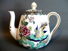 cr Crown Staffordshire Rock Bird Small Teapot c1930s