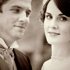 Matthew Crawley and Lady Mary Crawley... They get married and Mary doesn't even get a new name :(