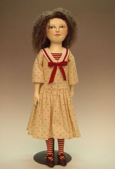Verity 18 and 22 inch cloth doll E-PATTERN by blueherondolls