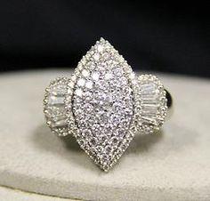 (23-00308-02) 14k White Gold 2.0 cttw Diamond Ring