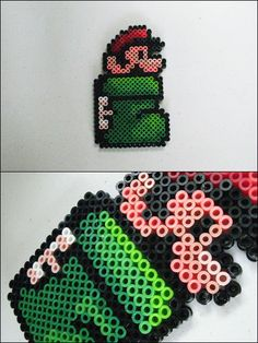 Super Mario 3 - Kuribo Shoe Mario - bead sprite magnet