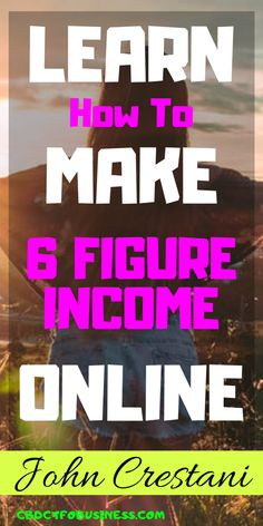 This training hosted by John Crestani, a self-made internet multi-millionaire, goes over how you can earn a side-income by working online, ANYWHERE, from your computer. Online Income, Online Earning, Earn Money Online, Marketing Program, Affiliate Marketing, Online Marketing, Internet Marketing, Marketing Training, Start A Business From Home