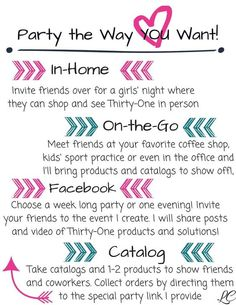 Party the best way for YOU!  So many options to earn FREE products!  Just click on the picture to hop over to my website to contact me today about booking your party!