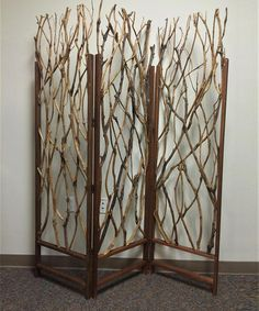 DIY inspiration-Three-Panel Tree Screen