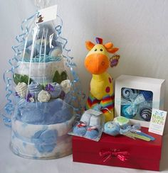 Collection of gifts for a very lucky baby boy :-) mimicgifts@gmail.com
