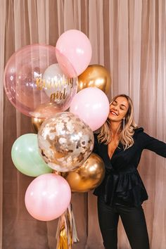 Cute Birthday Pictures, Happy Birthday Girls, Birthday Posts, Happy Birthday Pictures, 18th Birthday Party, Birthday Balloon Pictures, Birthday Celebration, Birthday Decorations At Home, Birthday Party Photography