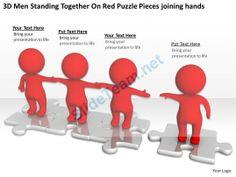 D Men Assembling Puzzle Solution Concept Ppt Graphics Icons