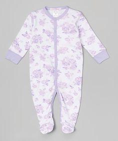 Look at this #zulilyfind! Lilac Roses Footie - Infant #zulilyfinds