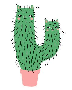 cactus kitty by PONY PEOPLE