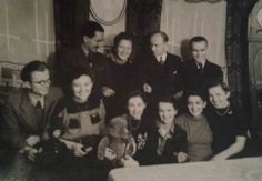 My grandparents, back left, Poznan, Poland, 1930s