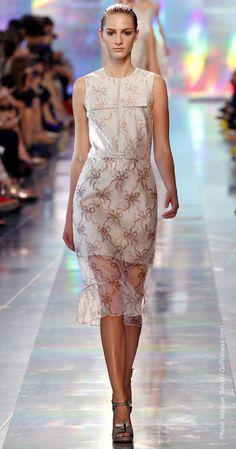 Spring 2013 Trend Reports, Christopher Kane, Veiled Look- sheer