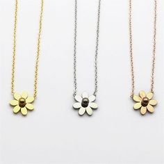 Find More Chain Necklaces Information about Promotion Stainless Steel Metal Hawaii Flower Pendant Statement Silver daisy Chain Necklace For Women Best Friend Gift,High Quality chain necklace mens,China necklace silk Suppliers, Cheap chain necklace fashion from JINHUI on Aliexpress.com