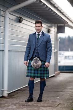 More colourful tartans are popular for summer weddings. Try out some of the blues and greens for an eye-catching Groom's outfit. With thousands of tartans available, we can tie your kilt outfit into any colour-scheme!