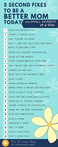 Click through to get the free printable! What do you do with a day that seems to go all wrong? Turn your day around with these quick tips to be a better mom in the small moments! Take 5 seconds to show your kids they are valued and loved in your home.