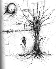 scary drawings | weird scary hanging thing by asunder traditional art drawings other ...