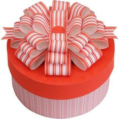 Gift Box C (Red),Home and Living,Paper Craft,Mother's Day,red,ribbon,present,Cylinder ,box