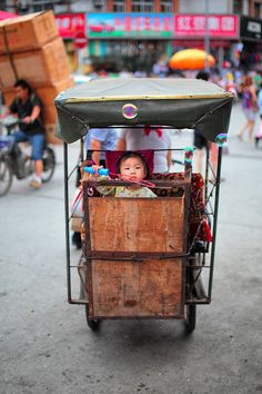 Unusual Tricycle - Chengdu, But it's not the foreground image that astounds me.