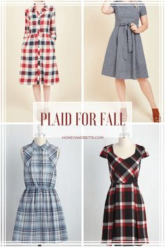 Flattering Plaid Dresses For Fall That Are Under $75. Trying to find a slimming…
