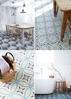 New Bath Room Tiles Border Marble Floor Ideas Best Flooring, Kitchen Flooring, Flooring Tiles, Wooden Flooring, Modern French Interiors, Painting Tile Floors, Painted Floors, Paint Your House, Room Tiles