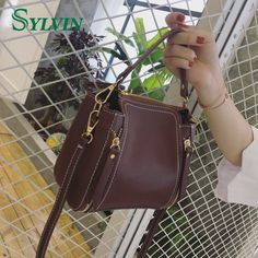 Pretty Good in Quality Simple Color Italian Leather Bag Vanity Bag
