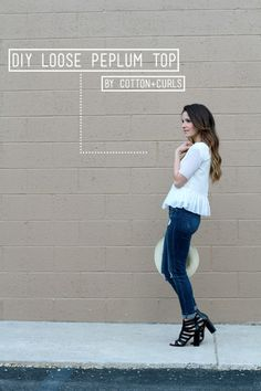 DIY Loose Peplum Top - FREE Sewing Tutorial