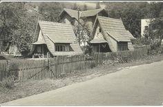 Zdjęcie z lat 70. - domki letniskowe WPHW postawione w Żegiestowie, kilka posesji od linii kolejowej