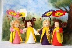 Made to order one Primerose child / flower child / by elfenwiege, $18.50