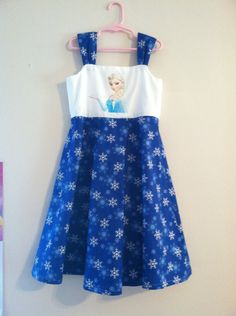 Cotton Disney Frozen Elsa Sundress by LittleCinderellas on Etsy, $40.00