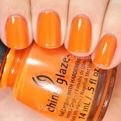 China Glaze Stoked To Be Soaked | Summer 2014 Off Shore Collection | Peachy Polish #orange